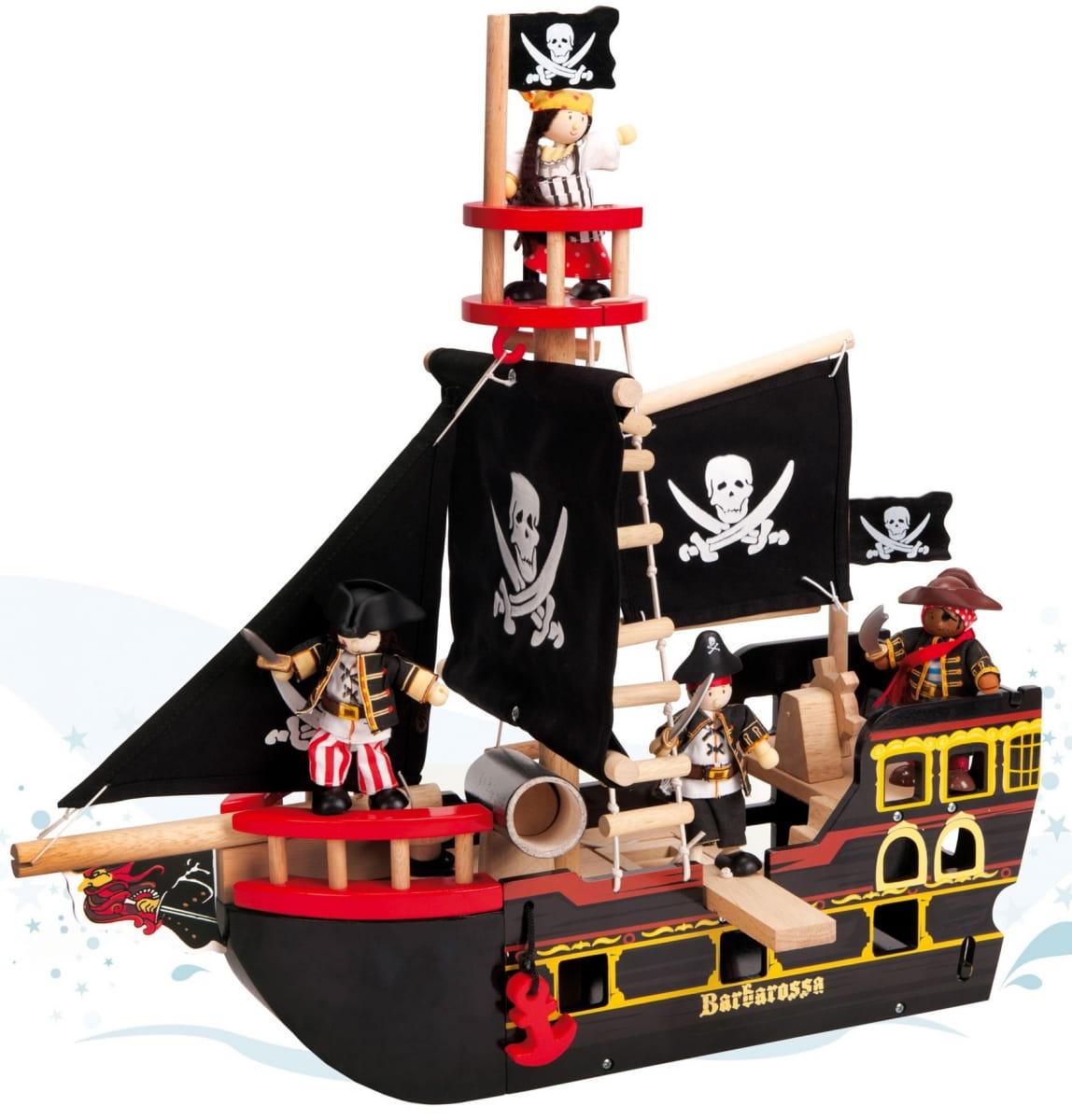 Игровой набор Le Toy Van Пиратский корабль Барбаросса