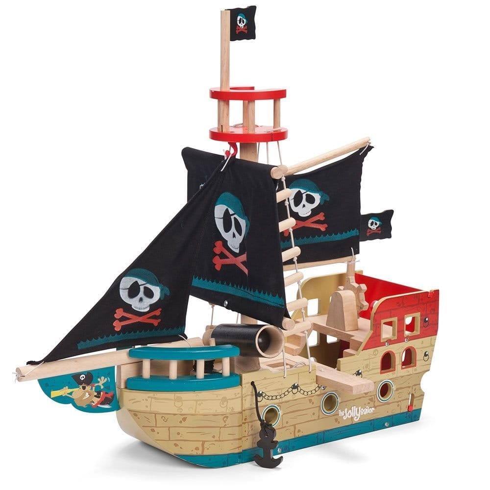Игровой набор Le Toy Van Пиратский корабль Веселый Сэйлор
