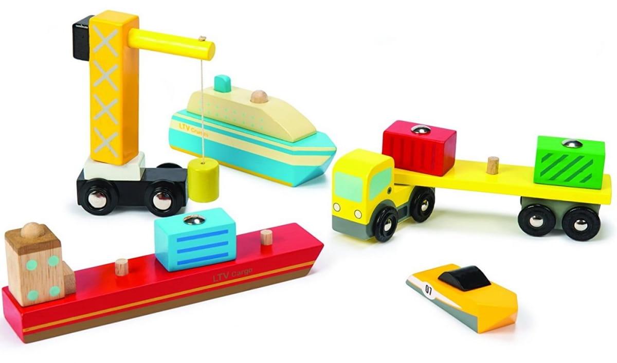 Набор машинок Le Toy Van Порт