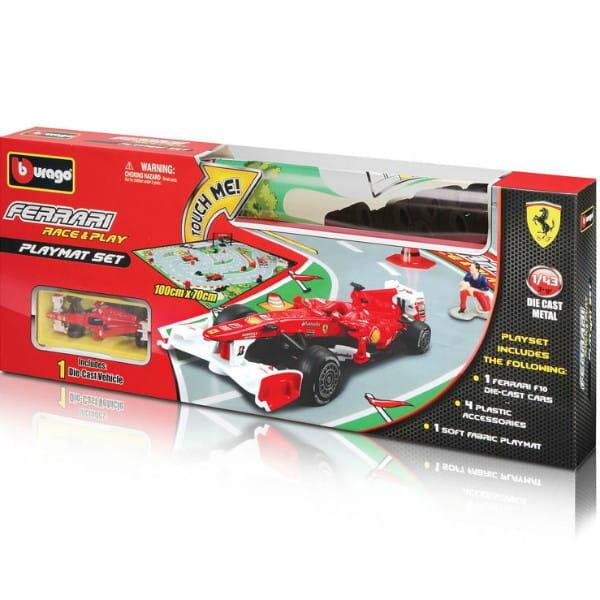 Купить Игровое поле Гоночная трасса с металлическим автомобилем Bburago 1:43 в интернет магазине игрушек и детских товаров