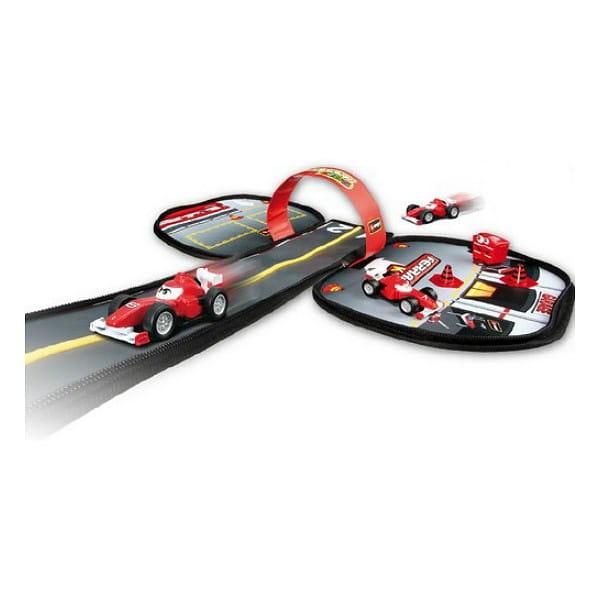 Купить Автотрек-рюкзачок с металлическим автомобилем Bburago в интернет магазине игрушек и детских товаров