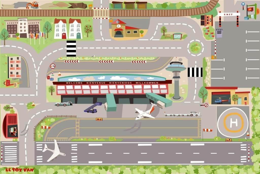 Игровой коврик Le Toy Van Аэропорт 120x80 см