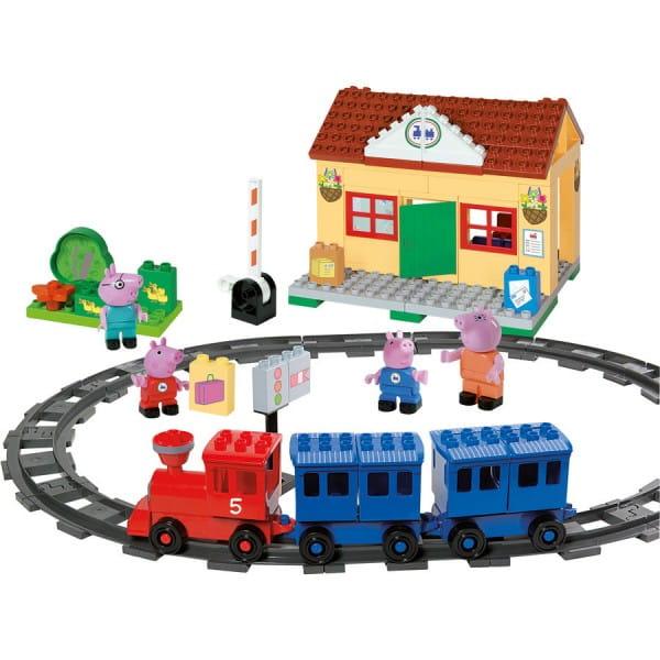 Конструктор Peppa Pig Железнодорожная станция - 95 деталей (Вig)