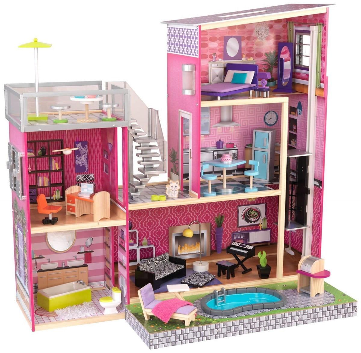 Кукольный домик с бассейном KIDKRAFT Роскошная вилла