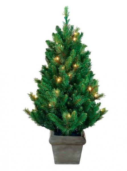 Купить Искусственная елка в горшке Black Box Звезда - 90 см (с вплетенной гирляндой) в интернет магазине игрушек и детских товаров