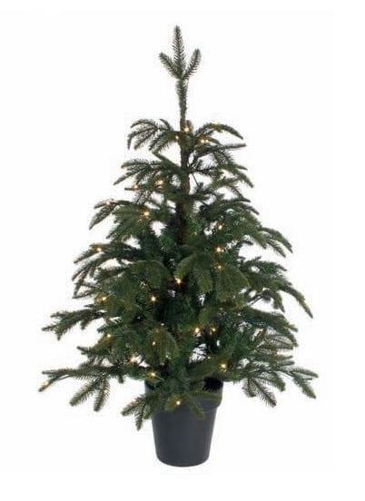 Купить Ель в горшке Black Box Фантазия зеленая - 120 см (с гирляндой на 96 ламп) в интернет магазине игрушек и детских товаров