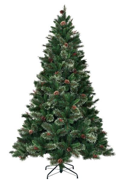 Искусственная елка с шишками и ягодами Black Box Регина - 230 см