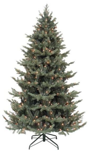 Ель Triumph Tree Шервуд Премиум голубая - 155 см (с гирляндой)