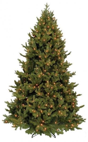 Купить Ель Triumph Tree Шервуд премиум голубая - 185 см (с вплетенной гирляндой) в интернет магазине игрушек и детских товаров