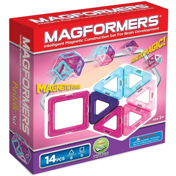 Магнитный конструктор Magformers-14 Pastelle