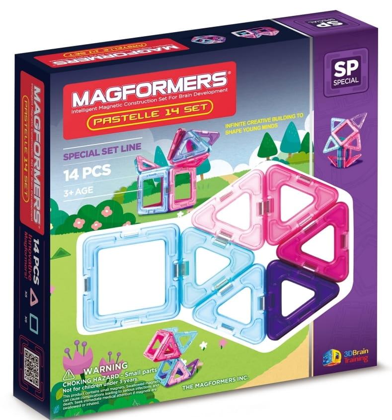 Магнитный конструктор Magformers 704001-14 Pastelle