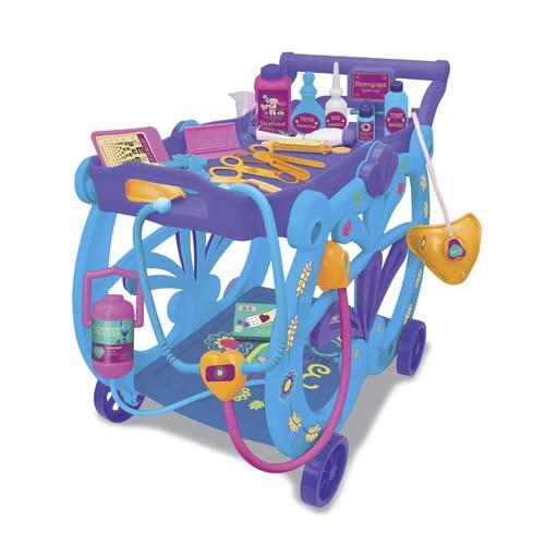 Купить Игровой набор Doctor Plusheva Доктор Плюшева Медицинская тележка в интернет магазине игрушек и детских товаров