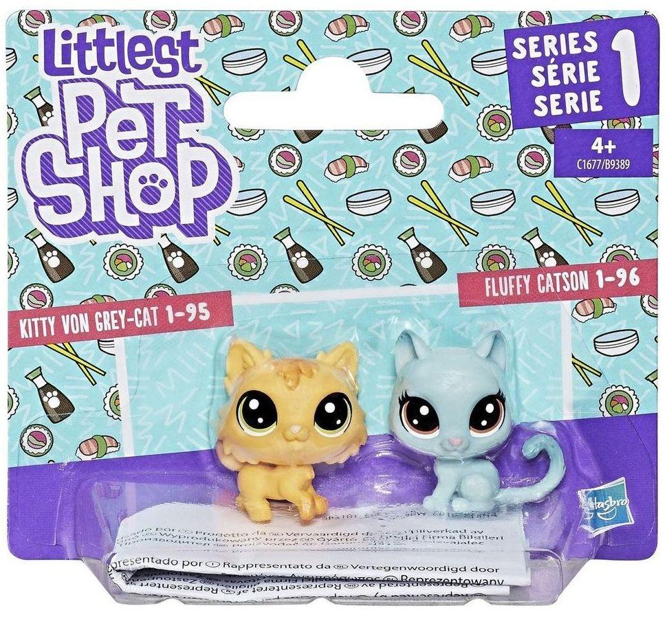 Игровой набор Littlest Pet Shop Набор из 2 зверюшек (HASBRO) - котик и лисичка