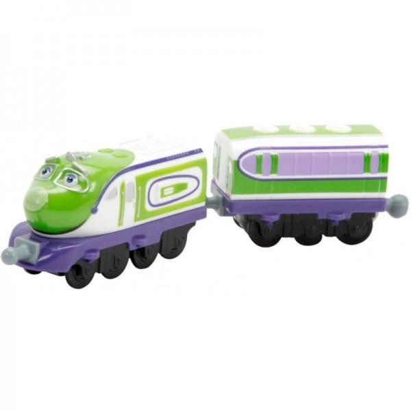 Металлический паровозик Chuggington Die-Cast Коко с прицепом