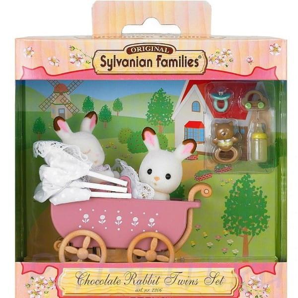 Купить Игровой набор Sylvanian Families Двойняшки Филипп и Николь в коляске в интернет магазине игрушек и детских товаров