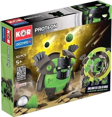 Купить Магнитный конструктор Geomag Kor Proteon Aki - 53 детали в интернет магазине игрушек и детских товаров