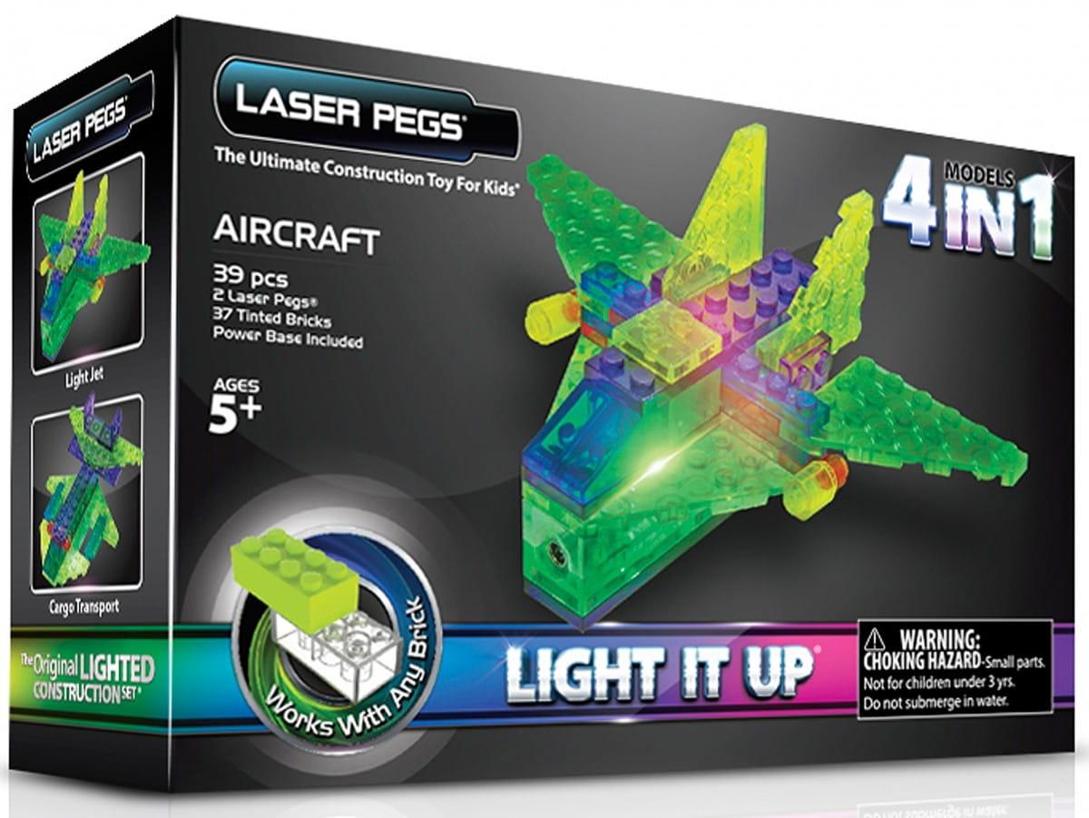 Светодиодный конструктор 4 в 1 Laser Pegs MPS100B Аэропланы