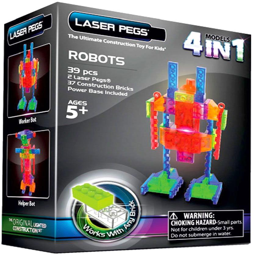 Светодиодный конструктор 4 в 1 Laser Pegs Роботы