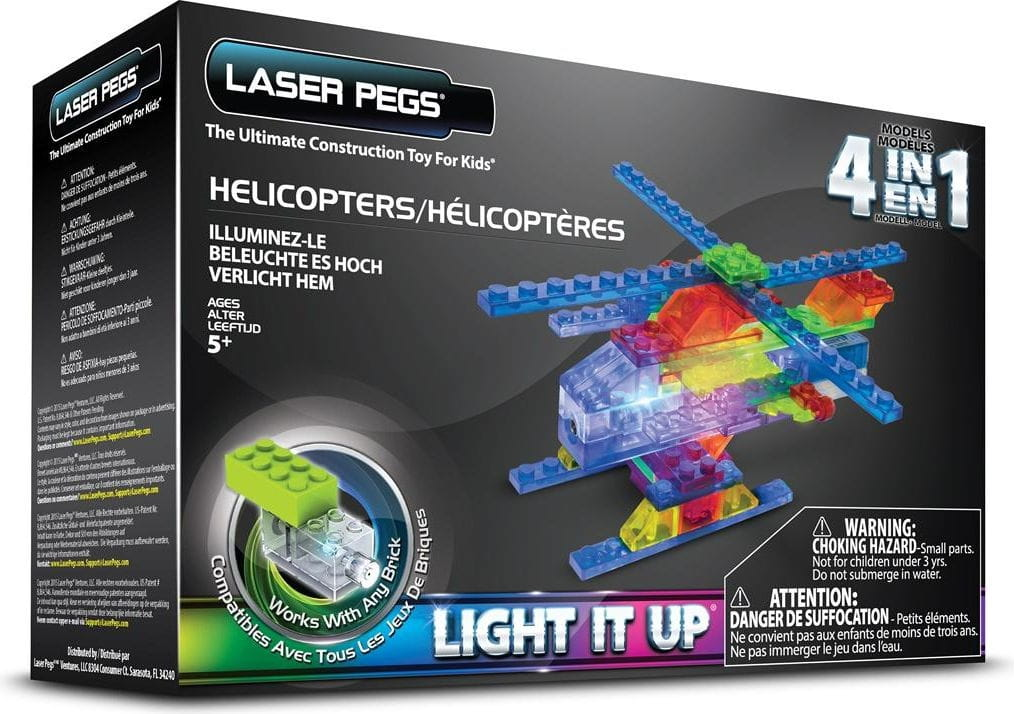 Светодиодный конструктор 4 в 1 Laser Pegs Вертолеты