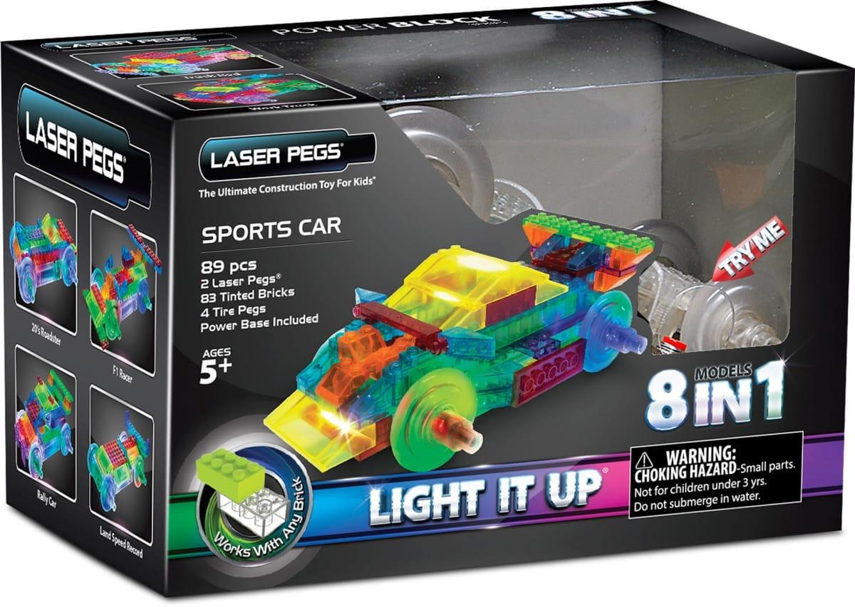 Светодиодный конструктор 8 в 1 Laser Pegs Энергоблок Машина