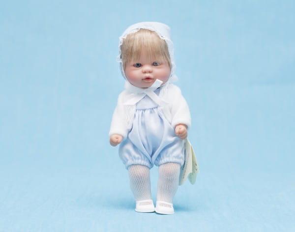 Кукла-пупс Asi - 20 см (в голубом комбинезоне с болеро)