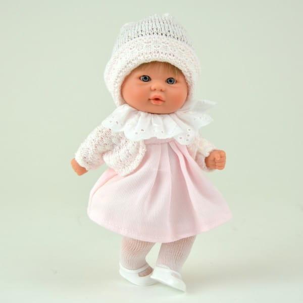 Купить Кукла-пупс Asi - 20 см (в розовом платье с шапочкой) в интернет магазине игрушек и детских товаров