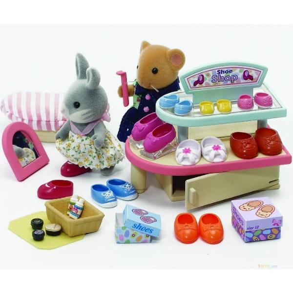 Купить Игровой набор Sylvanian Families Обувной магазин в интернет магазине игрушек и детских товаров