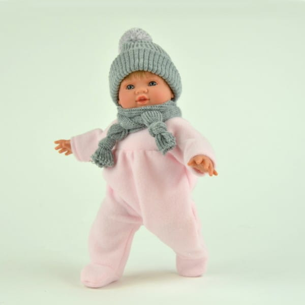Купить Кукла-пупс Asi Тете - 36 см (в розовом комбинезоне) в интернет магазине игрушек и детских товаров