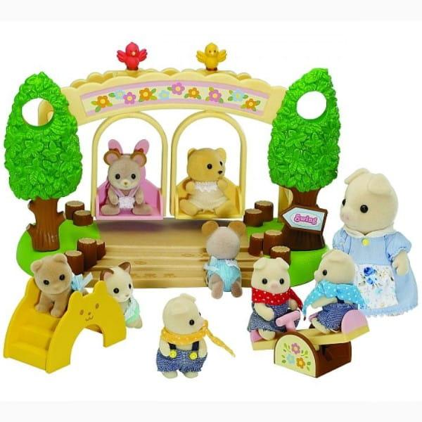 Купить Игровой набор Sylvanian Families Детская площадка с качелями в интернет магазине игрушек и детских товаров