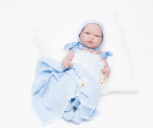 Кукла-пупс Asi Пабло - 45 см (в голубой одежде)