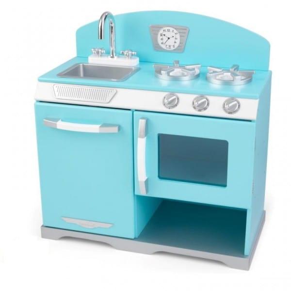 Купить Детская кухня Kidkraft Голубая плита Ретро в интернет магазине игрушек и детских товаров