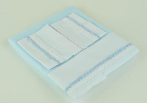 Купить Комплект постельного белья для кукол Asi - голубой в интернет магазине игрушек и детских товаров