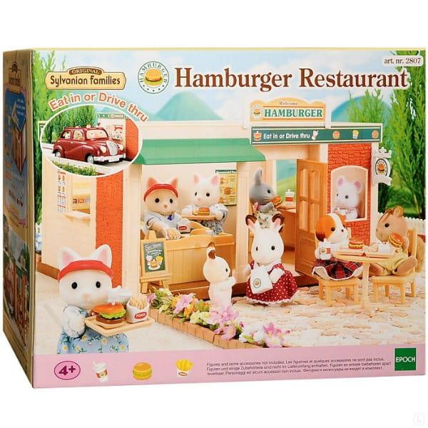 Купить Игровой набор Sylvanian Families Ресторан Гамбургер в интернет магазине игрушек и детских товаров