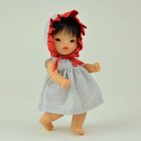 Купить Кукла-пупс Asi - 20 см (в чепчике) в интернет магазине игрушек и детских товаров