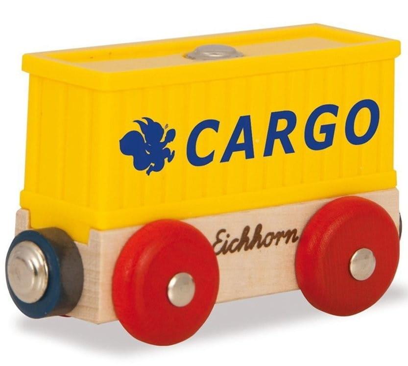 Игровой набор Eichhorn 100001357 Вагон контейнер - 8 см