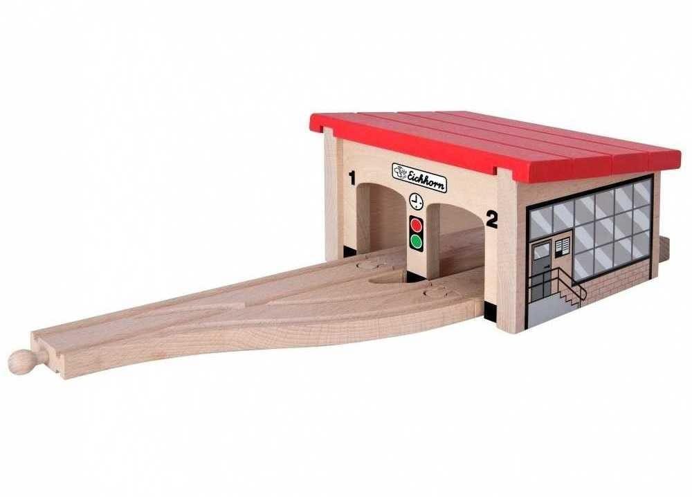 Игровой набор Eichhorn Депо для двух поездов - 7 деталей