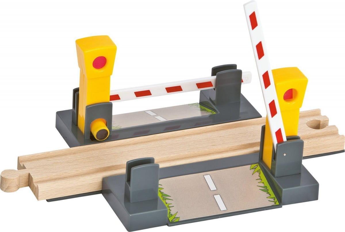 Игровой набор Eichhorn 100001506 Железнодорожный переезд с магнитным шлагбаумом