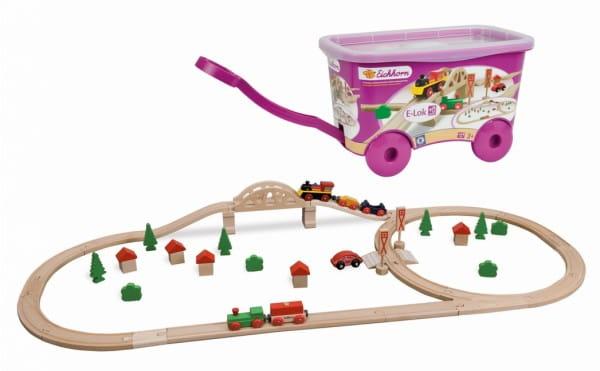 Набор железной дороги Eichhorn 100001225 в тележке - 55 деталей