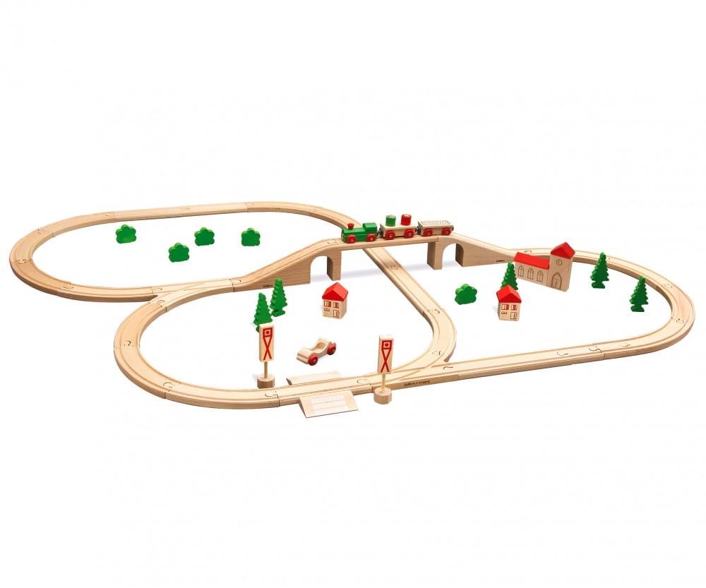 Набор железной дороги Eichhorn с мостом - 55 деталей