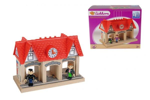 Купить Игровой набор Eichhorn Остановка (со звуком) в интернет магазине игрушек и детских товаров