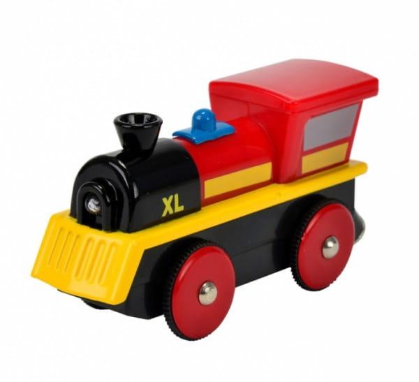 Купить Электронный паровоз Eichhorn со светом - 10,5 см в интернет магазине игрушек и детских товаров