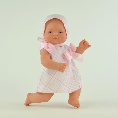 Купить Кукла-пупс Mama Ciguena Nico Asi - 40 см (в розовом платье) в интернет магазине игрушек и детских товаров