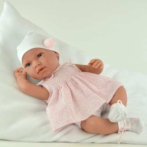 Купить Кукла-пупс Mama Ciguena Martina Asi - 50 см (в розовом платье) в интернет магазине игрушек и детских товаров