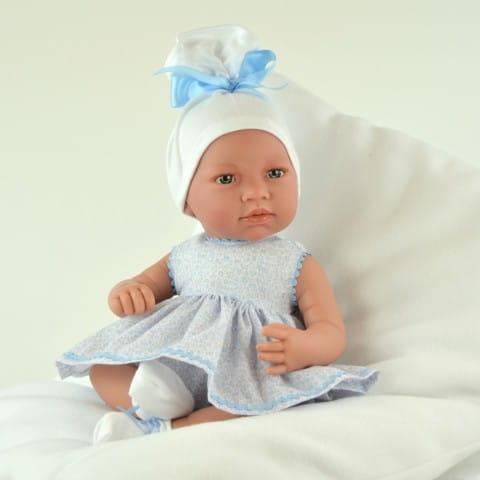 Купить Кукла-пупс Mama Ciguena Martinа Asi - 50 см (в голубом платье) в интернет магазине игрушек и детских товаров