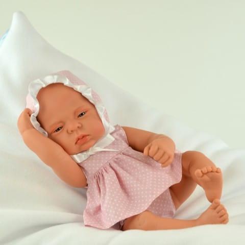 Купить Кукла-пупс Mama Ciguena Lulu Asi - 40 см (в розовой одежде) в интернет магазине игрушек и детских товаров
