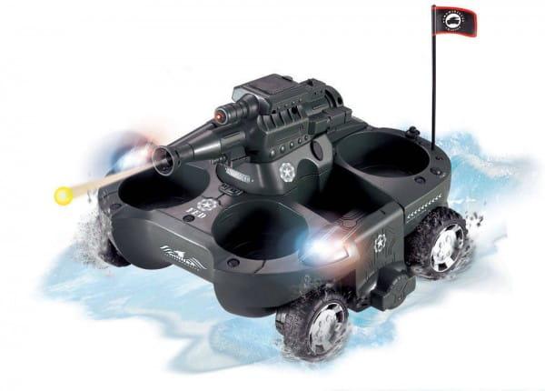 Купить Радиоуправляемый танк-амфибия Abtoys Боевой в интернет магазине игрушек и детских товаров