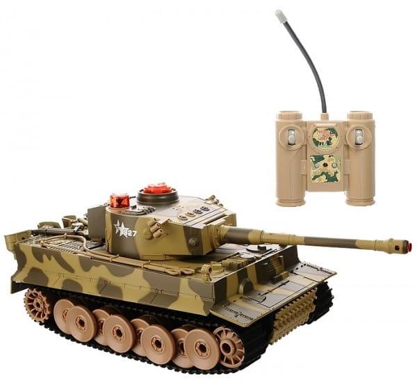 Радиоуправляемый танк Abtoys с инфракрасным наведением (со звуком и светом)