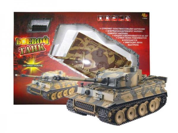 Радиоуправляемый танк Abtoys, стреляющий пластмассовыми шариками