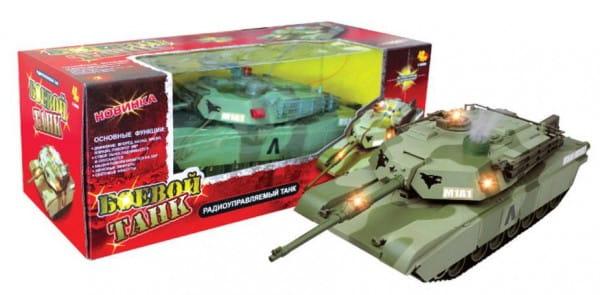 Купить Радиоуправляемый танк Abtoys со звуком и светом в интернет магазине игрушек и детских товаров