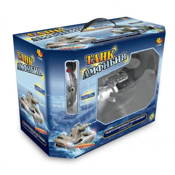 Купить Радиоуправляемый боевой танк-амфибия Abtoys (стреляет водой) в интернет магазине игрушек и детских товаров
